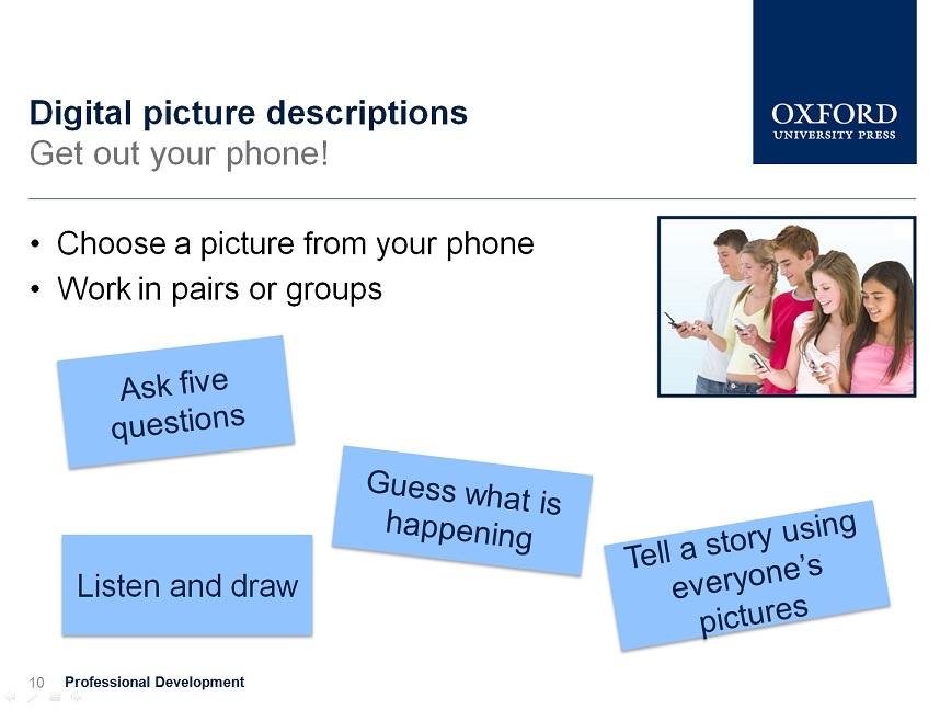 using smartphones pictures in class